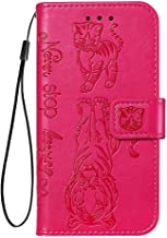 Wiitop Compatible with LG Stylo 5 Cover, Stylo 5 Plus Case Embossed Rose PU Leather Wallet Folio Flip Heavy Duty Full Body Protective Phone Credit Card Slot Magnetic Kickstand Smartphone Cat and Tiger