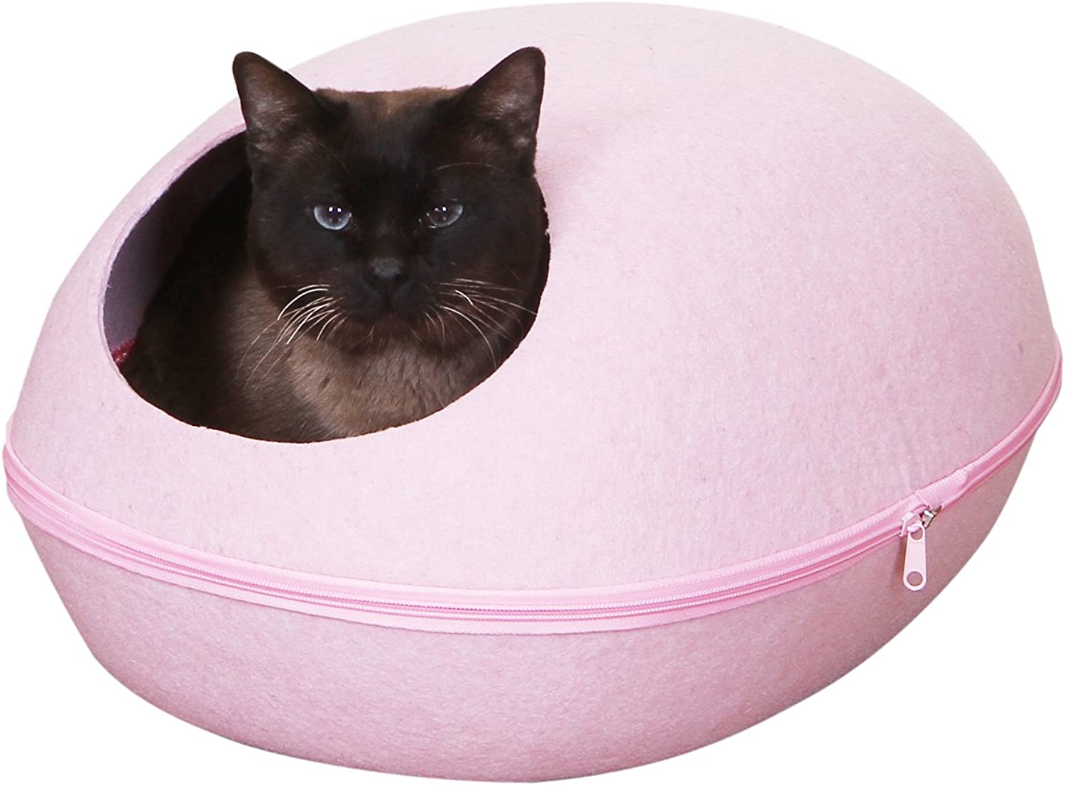 Pet Pals pink Pod  Pink Felt Bed With Removable Cover