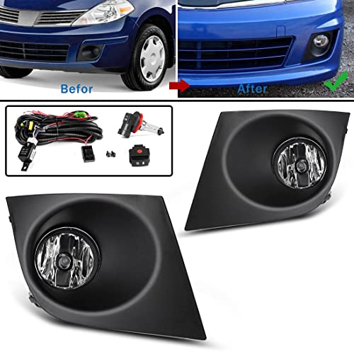Fog Lights For Nissan Versa Nissan Tiida 2007 2008 2009 2010 2011 (OE Style Real