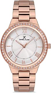 Daniel Klein Premium Ladies - Silver Dial Rose Gold Band Watch - DK.1.12613-3