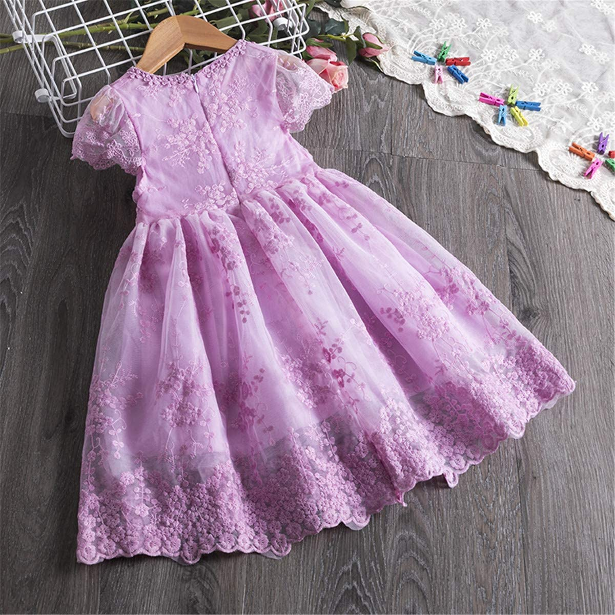 Girl's Unicorn Rainbow Dress Children Summer Casual Clothes