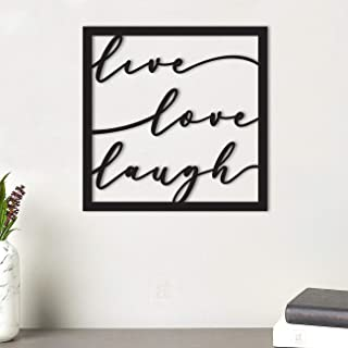 Art Street Live Love Laugh MDF Plaque Painted Cutout Ready to Hang Home Décor, Wall Décor, Wall Art,Decorative MDF Plaque ...