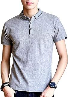 [アルトコロニー] シンプル 無地 ポロシャツ 速乾 3ボタン 半そで 袖口 ロゴ入り 単色 綿 カジュアル M ~ XL メンズ