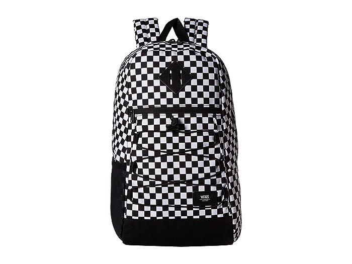 Vans Snag Backpack (Black/White Check) Backpack Bags