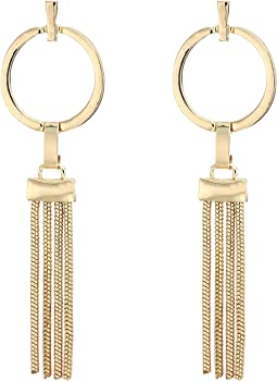 Tubetto Tassel Hoop Bar Post Earrings