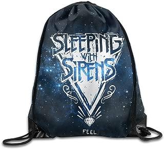 Stringiing Drawstring Backpack Bag Sleeping With Sirens