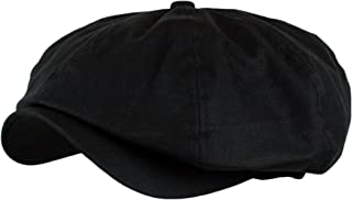 black newsboy cap men