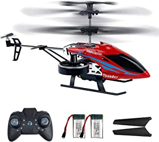 RC Helicopters, 2.4G Remote Control Helicopter with 4 Channel, Flying Toys for Boys with Altitude Hold, LED Lights, 2 Spee...