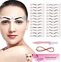 Eyebrow Stencil, 24 Eyebrow Shaper Kit, Reusable Eyebrow Template With Strap, 3 Minutes..