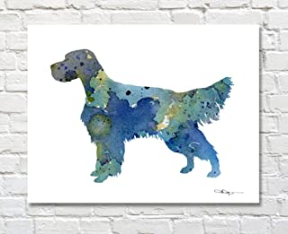 English Setter Watercolor Art Print by Artist DJ Rogers