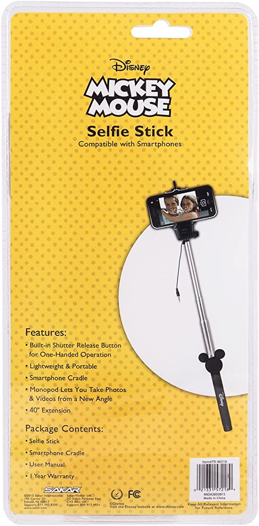 Accessories Disney Minnie Mouse Selfie Stick with Aux-in Wired ...