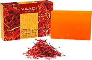 Vaadi Herbals Luxurious Saffron Soap, Skin Whitening Therapy, 75g