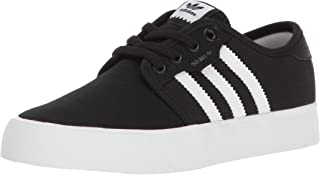 adidas Youth Seeley Black Canvas Trainers 7 US