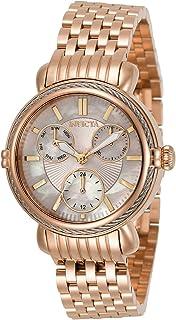 Invicta Women's Wildflower Quartz Watch with Stainless Steel Strap, Rose Gold, 16 (Model: 30868)
