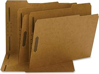مجلد المبرد Smead Fastener ، 2 مثبتات ، عززت 1/3 قطع ، حجم الحرف ، كرافت ، 50 لكل صندوق (14837)