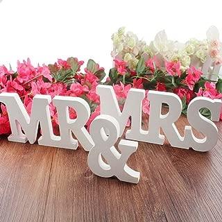 Meriton MR & MRS Wooden Letters Wedding Decoration/Present (White)