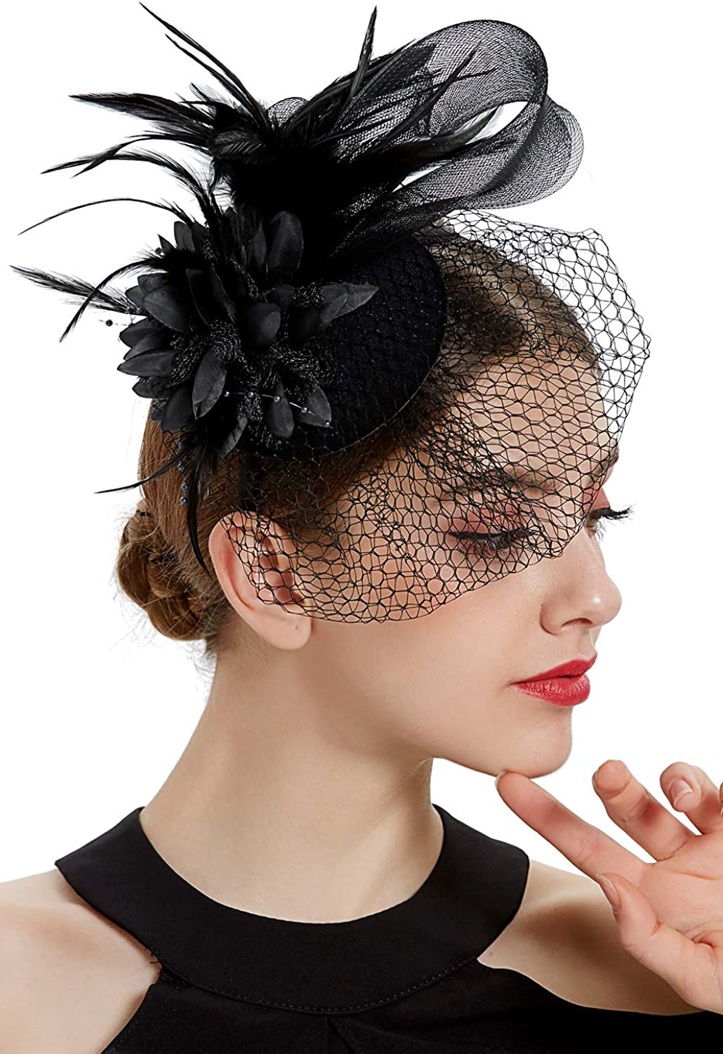 BABEYOND Veil Fascinator Hat 67% OFF of fixed price for Tea Kentucky Derby Women Finally popular brand Party