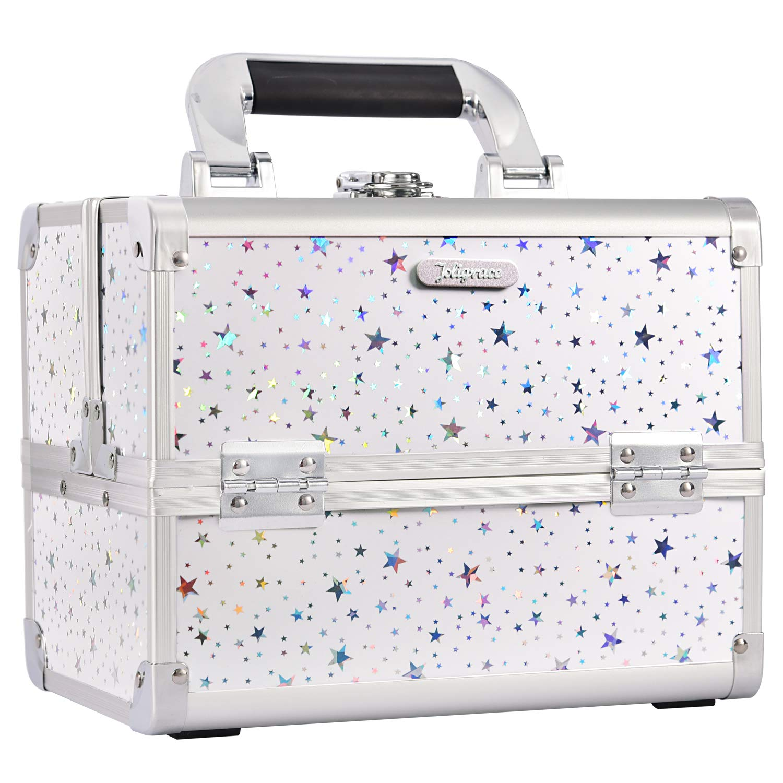 maletin profesional para maquillaje blanco Joligrace