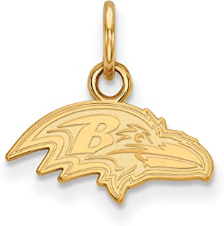 Gold Plated Baltimore Ravens X-Small Pendant for Chain, Necklaces and Bracelets
