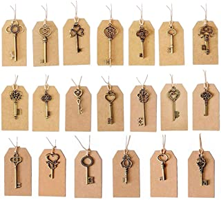 SL crafts Mixed 100pcs Skeleton Keys & 100 pcs Kraft