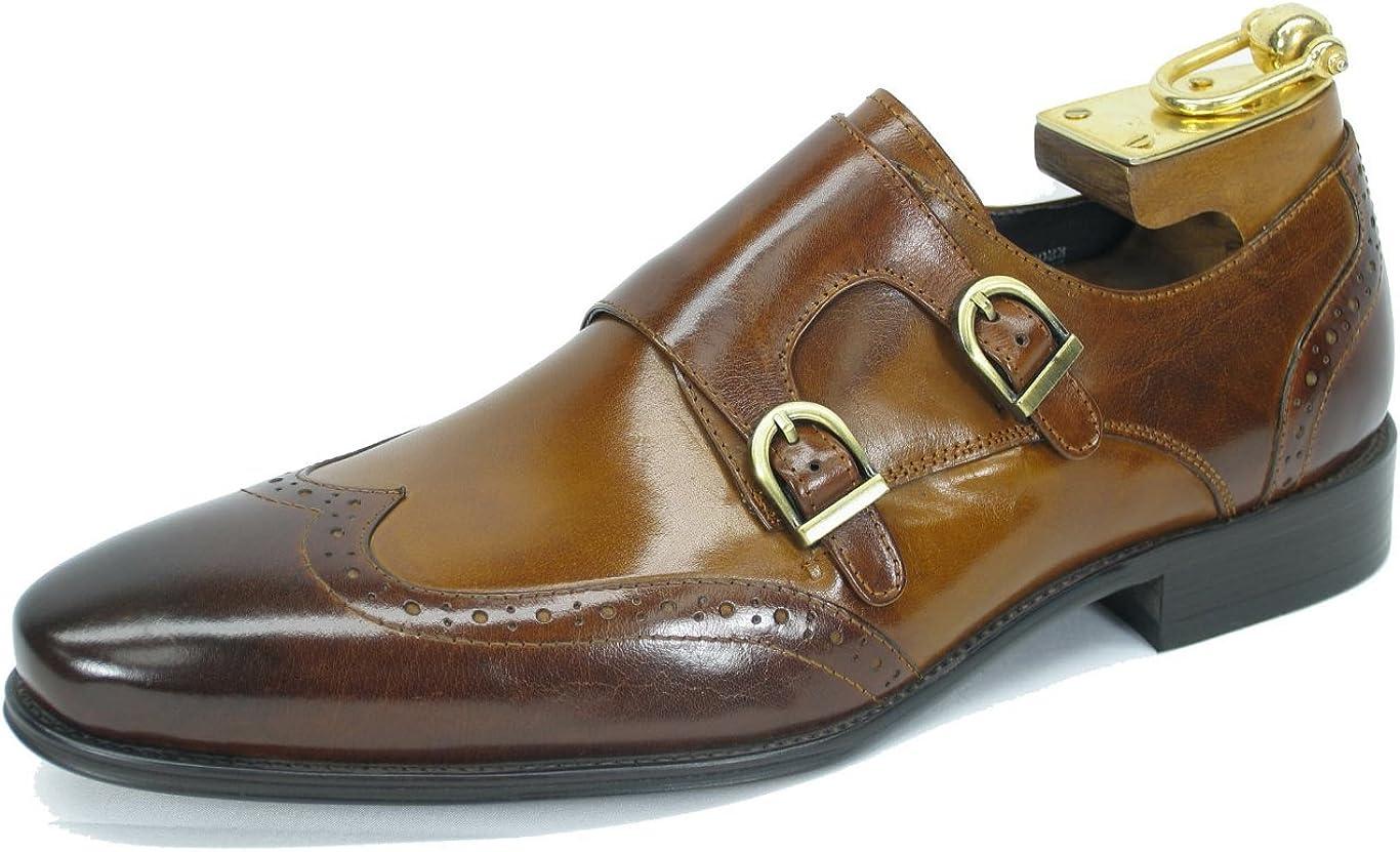 Carrucci Wingtip Monk Strap Men's Loafer KS099303T
