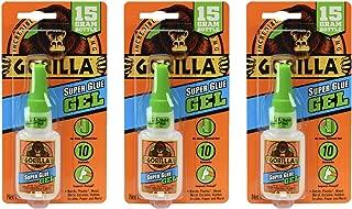 Gorilla Super Glue Gel, 15 Gram, Clear, (3 Pack)