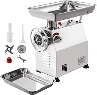 Happybuy Meat Grinder 2200W Electric Meat Grinder 770lbs/h Stainless Steel Commercial Meat Grinder With 2 Grinding Heads & 2 Blades Electric Sausage Maker For Home Kitchen & Commercial Use
