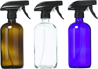 E-Living Assorted Glass Spray Bottles for Liquids with Chalkboard Labels for Cleaners, Essential Oils, Beauty Products, Ar...