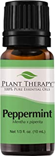 Plant Therapy Peppermint Essential Oil | 100% Pure, Undiluted, Natural Aromatherapy, Therapeutic Grade | 10 Milliliter (⅓ Ounce)