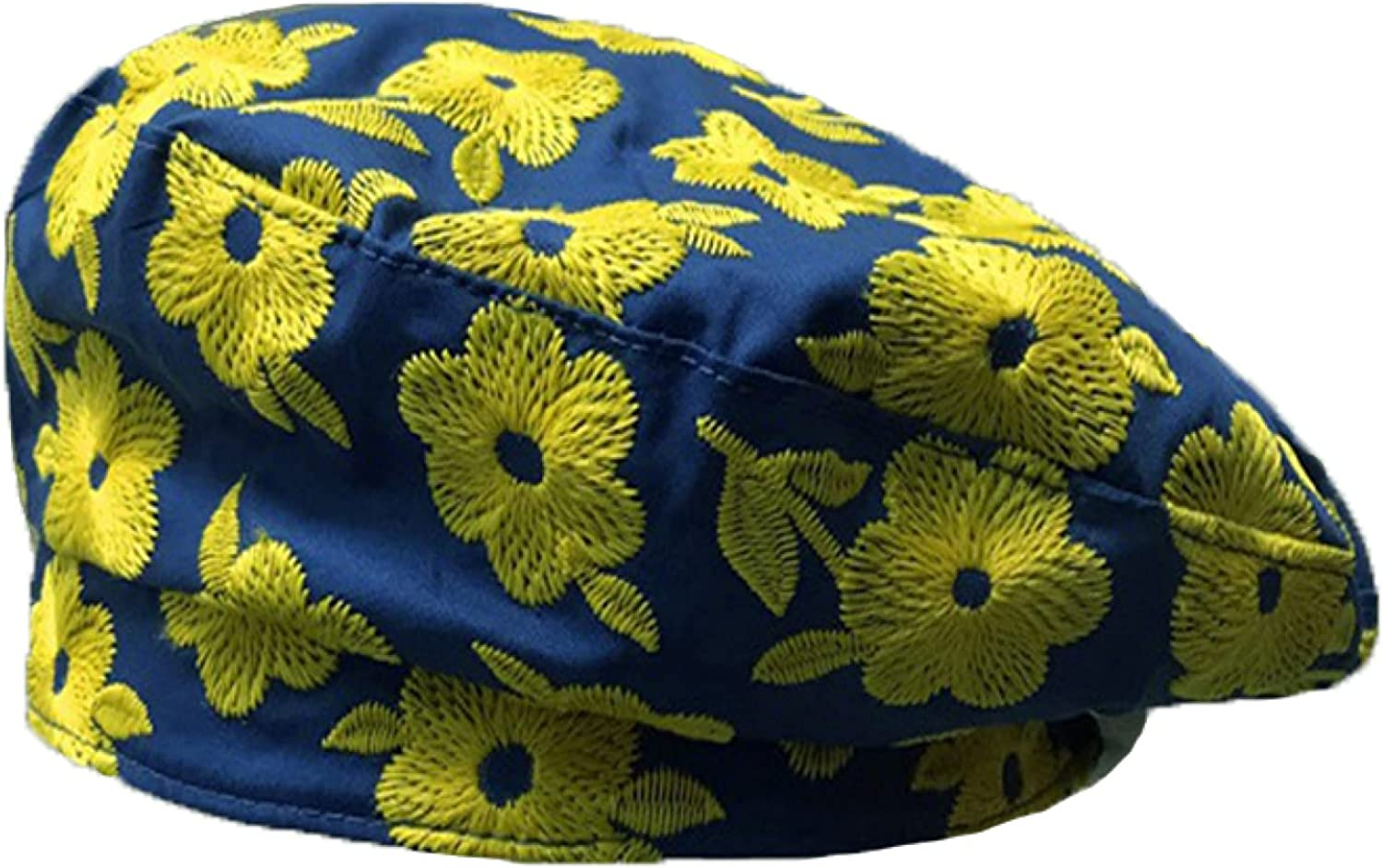 AOBRICON Beret Hats for Women Yellow Purple White Pink Sweet Embroidered Flower Caps Painter Hat