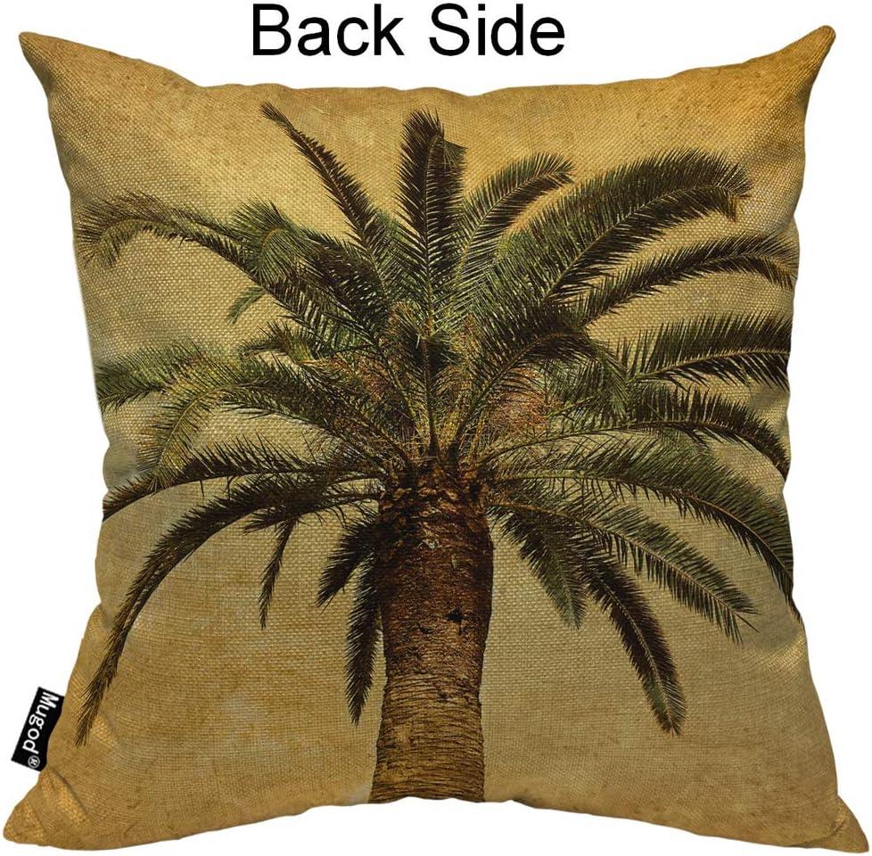Buy Mugod Palm Tree Throw Pillow Case Hawaiian Tropical Palms Leaf ...