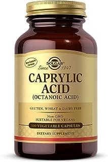 Solgar Caprylic Acid, 100 Vegetable Capsules - Supports Digestive Health - Contains Calcium, Magnesium & Zinc - Non-GMO, V...