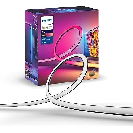 Philips Hue - Tira LED, Play Gradient Lightstrip, Luz blanca y colores, 55 Pulgadas Compatible con Alexa y Google Home