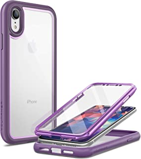 YOUMAKER Aegis Series for iPhone XR Case with Built-in Screen Protector Full-Body Clear Rugged Cover for iPhone XR 6.1 Inc...