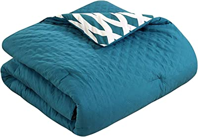 Chic Home 10 Piece Comforter Set Including 4 Piece Sheets Set, King, Teal