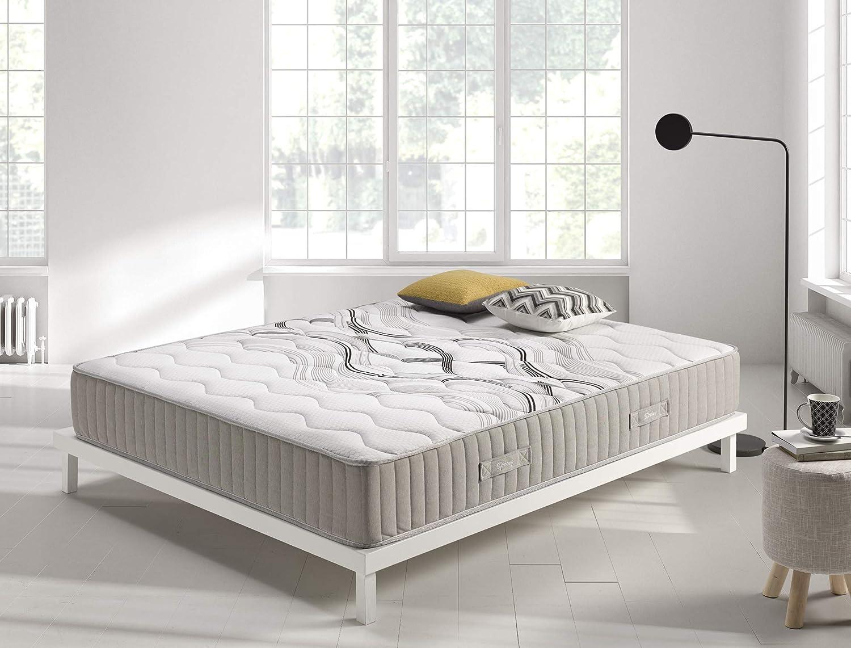 Living Sofa Colchón muelles 135x190 cm Visco Spring - Altura +/- 26 cm - Sistema de muelles ensacados - Espumación HR Viscosoft de Alta Densidad - ...