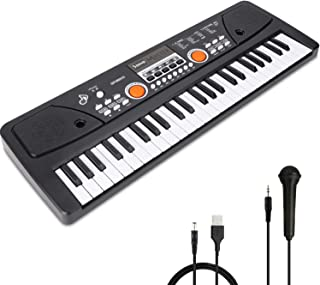 RenFox 49 Key Kids Piano Keyboard with Microphone Portable K
