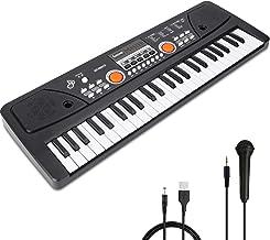RenFox 49 Key Kids Piano Keyboard with Microphone Portable K