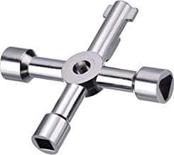 Silver Steel 4 Way Utility Service Key Gas Electric Meter Cabinet Radiator tap
