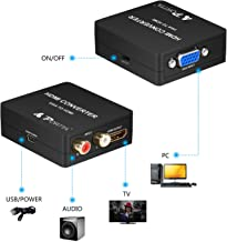 Portta VGA Audio R/L to HDMI Converter v1.3 Support 1080P and Uncompresses 2 Channel Such as LPCM