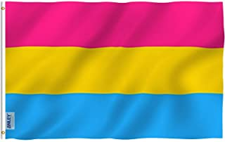 ANLEY [Fly Breeze] 3x5 Foot Pansexual Pride Flag - Vivid Color and UV Fade Resistant - Canvas Header and Double Stitched -...