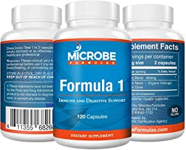 Microbe Formulas: Organic Formula 1- Intestinal Support - 120 Capsules - Organic Supplement - Dietary Supplement - Ayurvedic Medicine - Intestinal Detoxification - Healthy Intestinal Tract