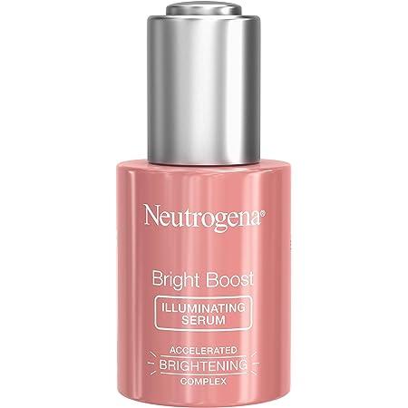 Neutrogena Bright Boost Illuminating Face Serum with Neoglucosamine & Turmeric Extract for Even Skin Tone, Resurfacing Serum for Face to Reduce Dark Spots & Hyperpigmentation, 1 Fl Oz