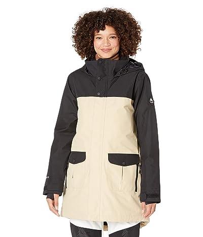 Burton GORE-TEX(r) Eyris Jacket (True Black/Irish Cream) Women