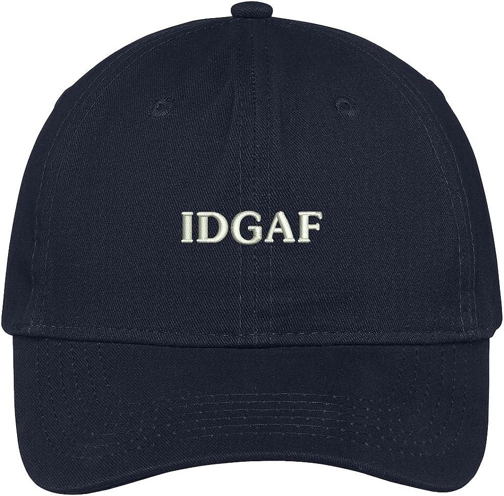 Trendy Apparel Shop Idgaf Embroidered Cap Premium Cotton Dad Hat