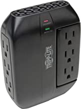 Tripp Lite 6 Outlet Surge Protector Power Strip, 3 Rotatable Outlets, Black, Lifetime Limited Warranty & $20, 000 Insurance (SWIVEL6)