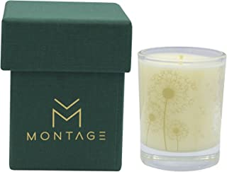 Montage Lifestyle Pine, Cinnamon & Bergamot Soy Wax Votive Candle- Down To Earth- Aromatherapy Candle for Calming with 100% Pure Essential Oils- 1.6OZ- 15Hrs- Handmade in Greece