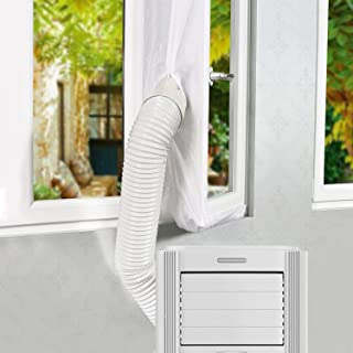 Gimars 400cm Fensterabdichtung für Mobile Klimageräte, Mobile Klimaanlage Fensterabdichtung, AirLock für abluftschlauch und klimagerät schlauch, Hot Air Stop Für Fenster