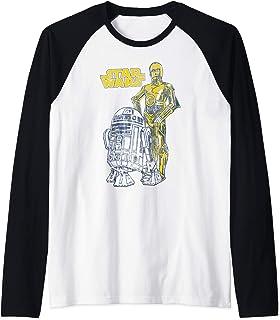 Star Wars Oversized Droid Friends Manche Raglan