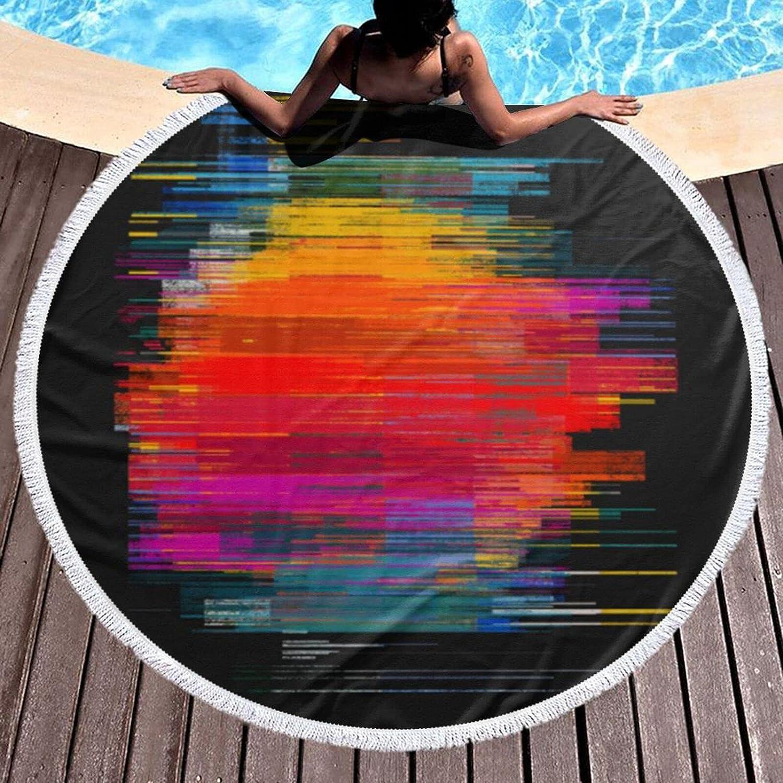 Round Seasonal Wrap Introduction supreme Beach Towel Sunset Bath Oversized Microfiber Fusion